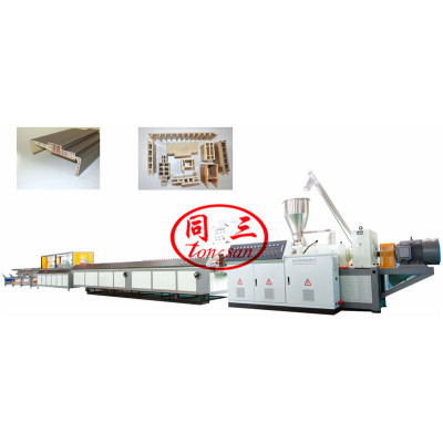 Wood Plastic WPC Door Frame Machine PVC WPC Door Profile Extrusion Line Machine