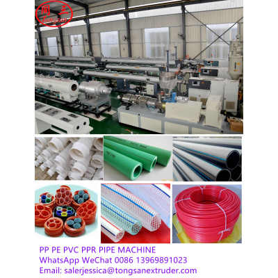 Large Diameter 315-500mm PVC Water Pipe Production Making Machine Line Plastic Pipe Machine