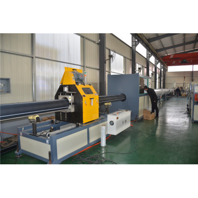 160-450mm High Speed HDPE Plastic Water Supplying And Gas Supplying Pipe Extrusion Line Machine