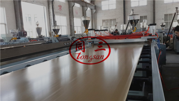 3-35mm thickness PVC WPC solid foamed furniture board and solid door board making machine with CE certificate