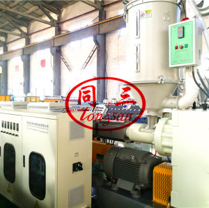 plastic LDPE HDPE foam profile making extruder machine extrusion line