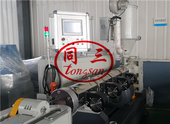 PLC system for corrugated pipe machine
