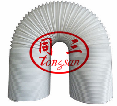 steel wire shrinking pipe machine manufacuture industrial exhaust pipe/ pp shrink wind pipe