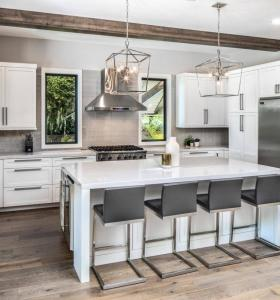 RTA shaker kitchen cabinets white layout cost with island