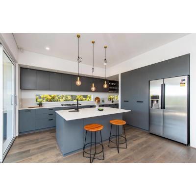 Fábrica de organizadores de gabinetes de cocina de pintura moderna gris