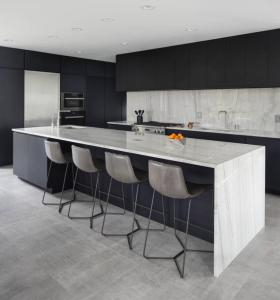 I shaped modern black kitchen cabinet types units with sink