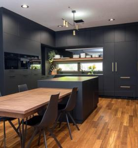 Black kitchen cabinet sets wholesale factory with drawers