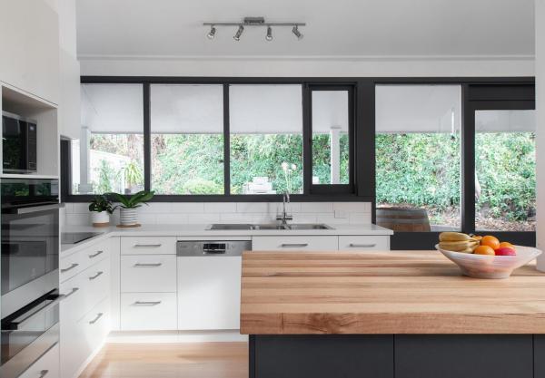 Proyecto de casa en Australia gabinete de cocina de melamina y pintura en venta