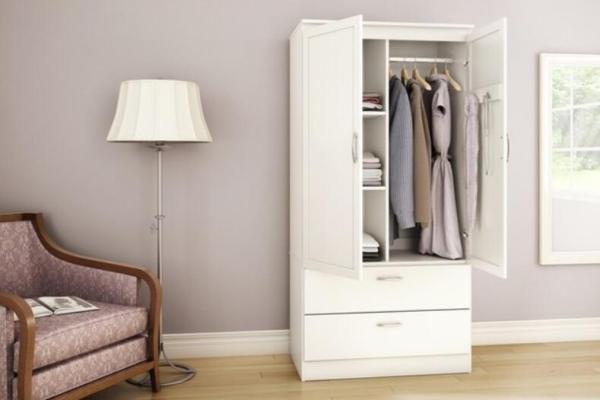 Blanco moderno apartamento dormitorio armario de madera de diseño