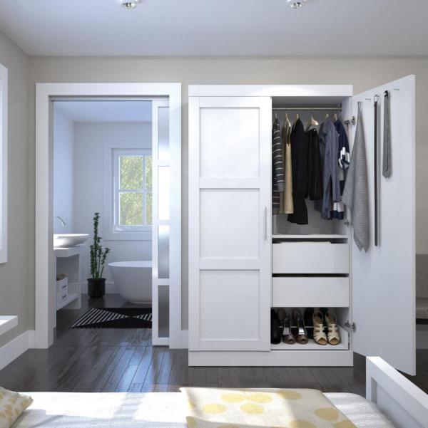 dormitorio hecho a medida precio barato lacado agitador puerta armario