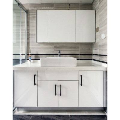 House project high gloss lacquer bath vanity cabinet