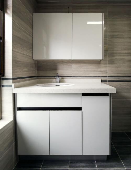 Proyecto de la casa mueble de tocador de baño de laca brillante