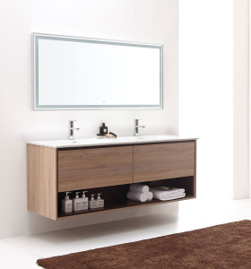 Particle board chipboard wood grain melamine bath vanity cabinet