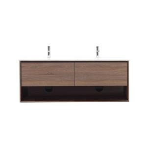 Tablero de partículas aglomerado madera grano melamina baño mueble
