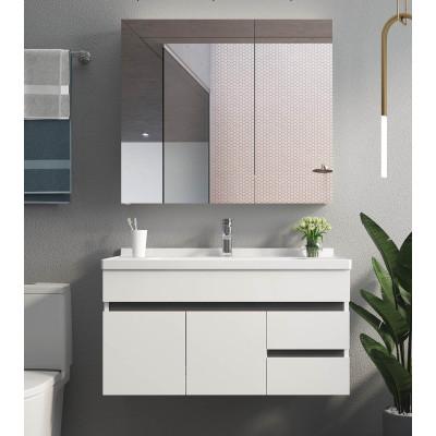 White bathroom project bath vanity and mirror set designs