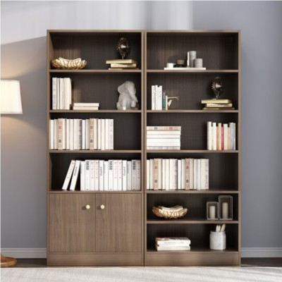 Living room wood grain melamine plywood bookshelf cabinet