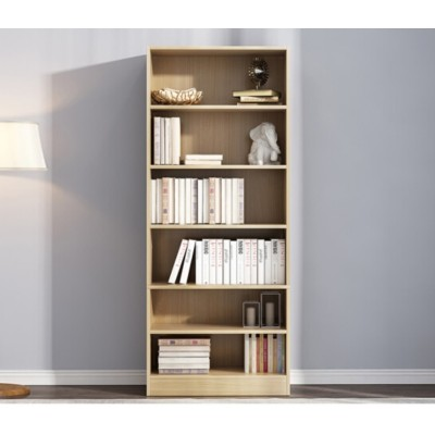 Open bookshelf and cabinet storage design
