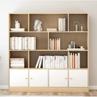 Large home library wooden bookshelf cabinet furniture design