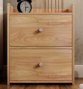 Wooden bedroom bed wood grain melamine night stand cabinet