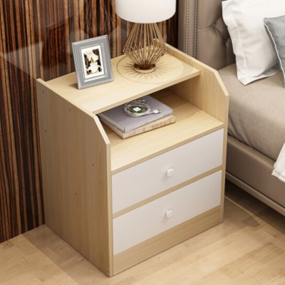 Cheap 2 drawer bedside cabinet unit with shelf for sale