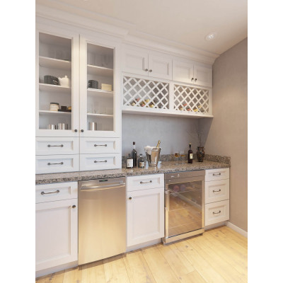 House customized modern wooden shaker style laundry cabinet