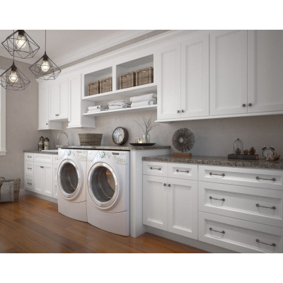 Project lacquer wooden apartment laundry cabinet