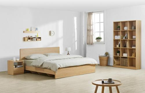 شقة رخيصة الحديثة الجسيمات الخشبية السرير تصميم مجموعة