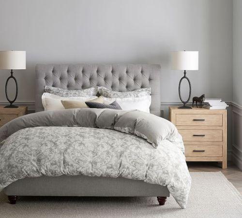 سرير بحجم كينج كلاسيكي بنسيج