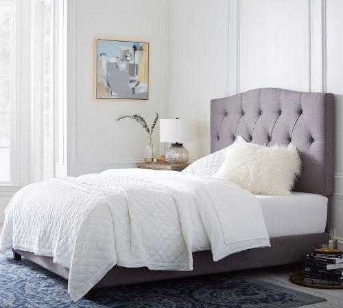 نسيج المفروشات السرير تصميم مجموعة بيع مع اللوح الأمامي