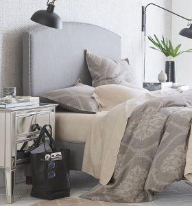 Camas modernas de tela tamaño queen con cabecero de camas de tela