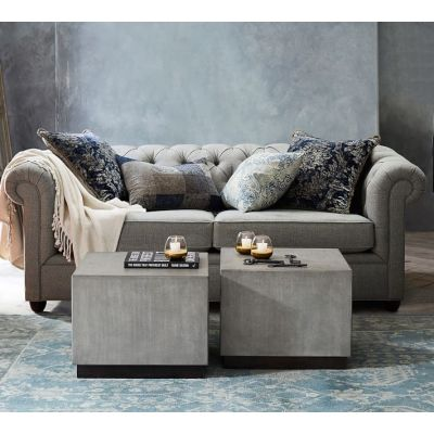 Classic fabric chesterfield button sofa on sale