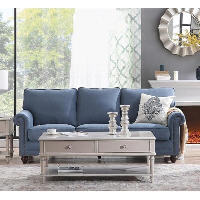 Inicio sala de estar tres asientos sofá seccional de tela