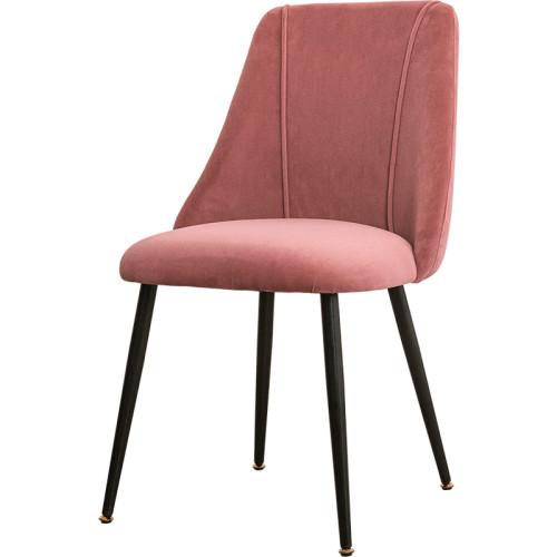 ضوء الحديث نمط الفاخرة الساق المعدنية المخملية النسيج الطعام كرسي