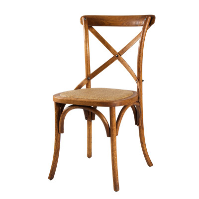 Solid wood dining cross back chair set design on sale