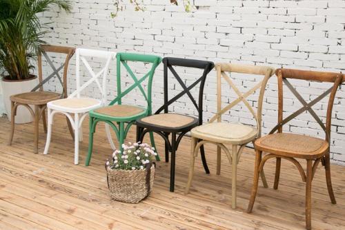 الصلبة الخشب الطعام عبر ظهر كرسي مجموعة تصميم للبيع