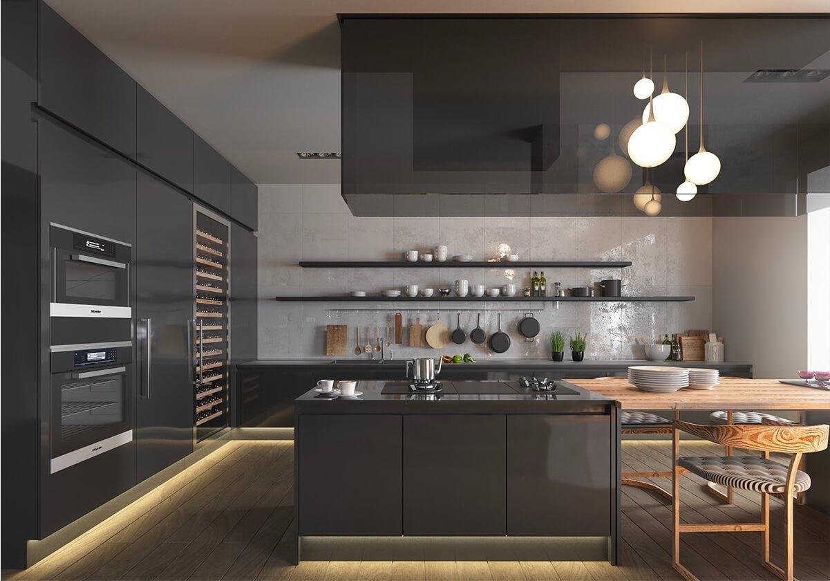ماذا عن تصميم المطبخ الأسود؟