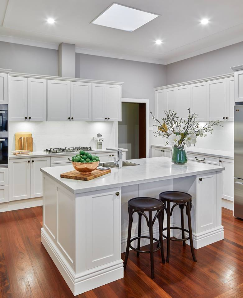 Villa project american style solid birch wood white ...