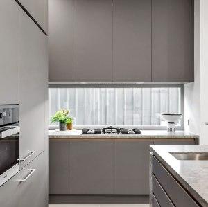 Tipo moderno pintura gris casa de australia pintura gris proyecto de gabinete de cocina