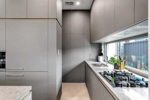 الحديث رمادي نوع اللوحة أستراليا منزل رمادي مشروع مطبخ مجلس الوزراء اللوحة