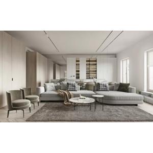 Acogedora casa con espíritu minimalista, la suave belleza de las líneas aplicadas en el espacio.