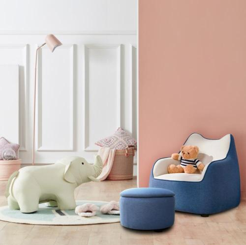 تصميم أريكة الأطفال النسيج الخشبي للبيع