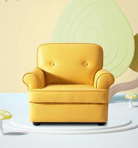 wholesale sofá de bebé para niños de ocio de pu amarillo para niños