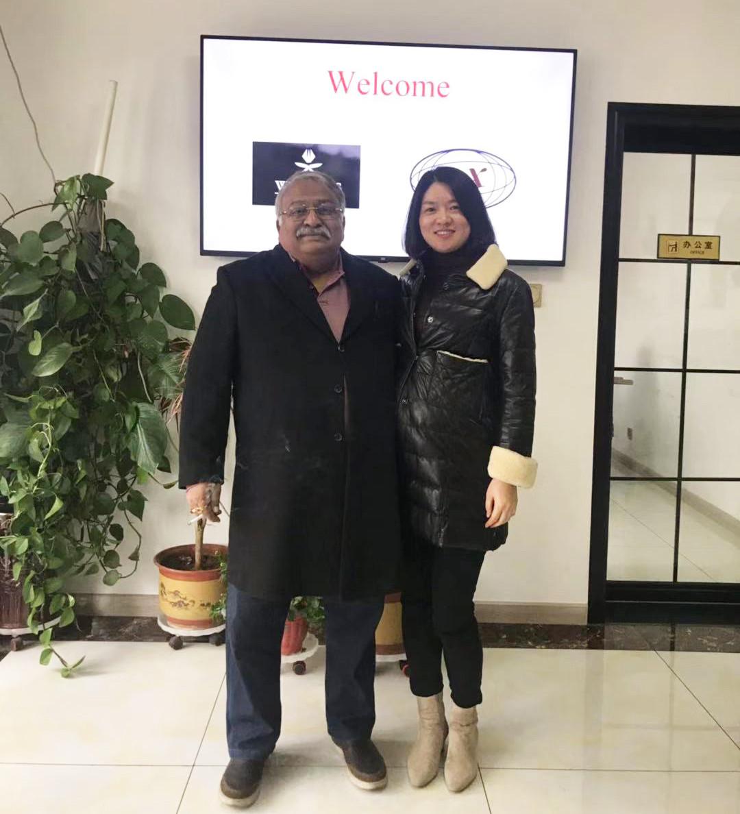 Primera foto con un cliente