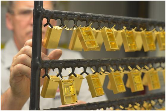tratamiento de superficie de metal Chapado en oro