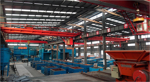 V-process modeling production line