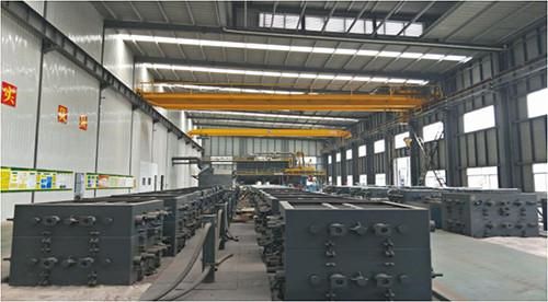 Vacuum casting molding production line
