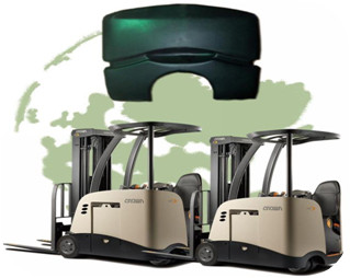 Forklift counterweight