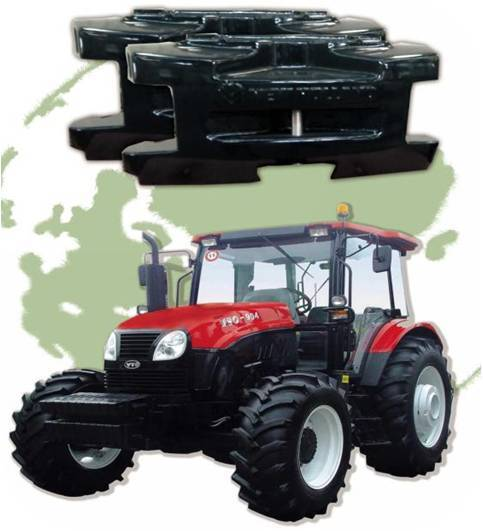 Agricultural machinery counterweight