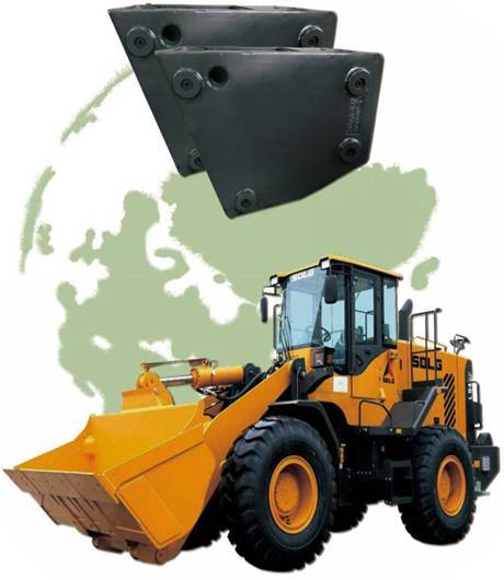 Loader counterweight