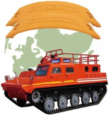 Forest fire truck counterweight